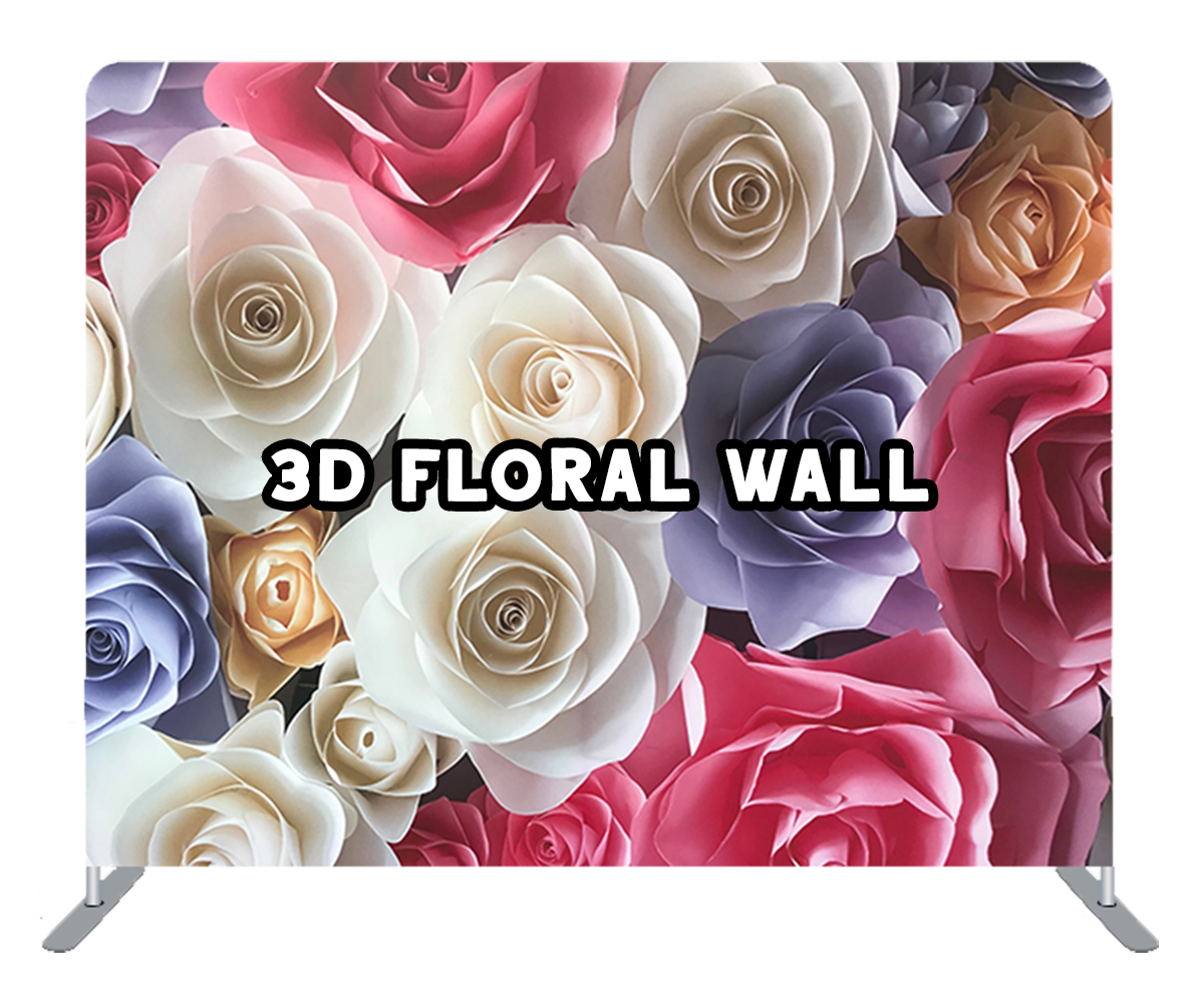 3d floral wall