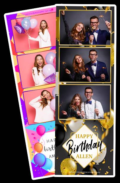 arrange printed photostrips on archival paper, for a unique, custom photobooth hire experience