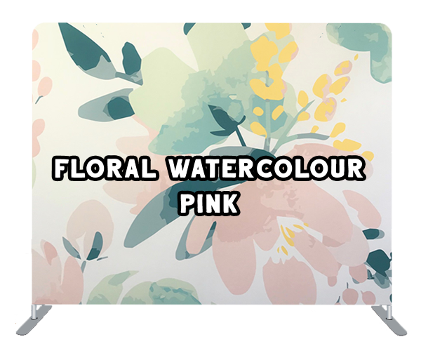 floral water colour pink