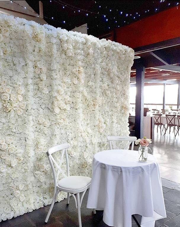 floral wall white