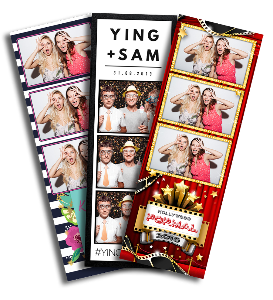 printed photo strips can be supplied with any event